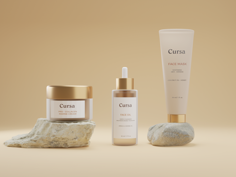 Cursa - Cosmetic Packaging Branding Design packaging packagingdesign packagingpro brand design kit logo brand design design illustration ux ui branding