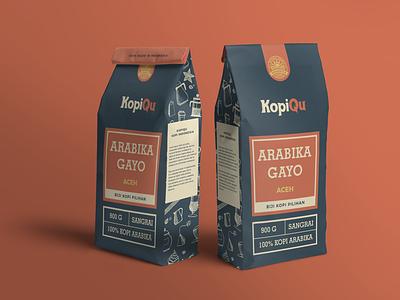 Branding - KopiQu coffee logo logo packagingpro packagingdesign packaging illustration design branding brand design kit brand design