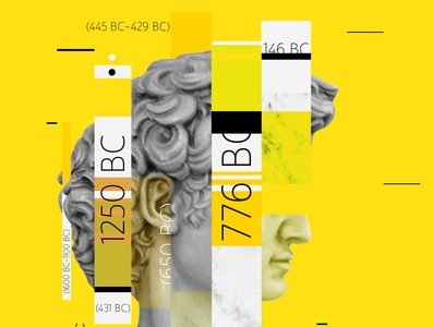 Ancient Greece student art flat typography illustration design photoshop adobe