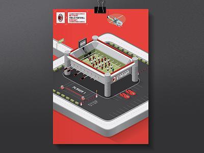 AC Milan's table football stadium ac milan football table football stadium