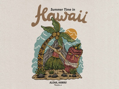Hawaii vintage badge design illustration badge design badge logo badge vintage logo vintage illustration art