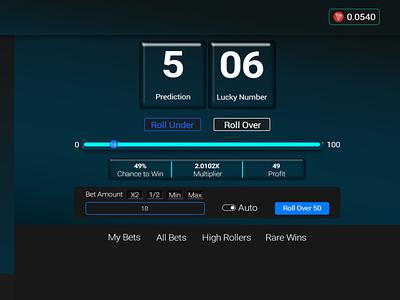 Dice Game Mock up web app ux ui design