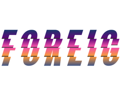 Foreign Fashion typography logo vector branding illustration design