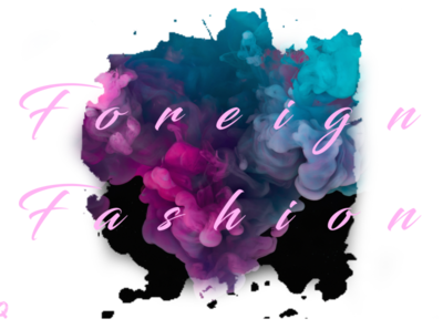 Foreign Fashion with BG creative logo typography photoshop vector logo branding illustration design