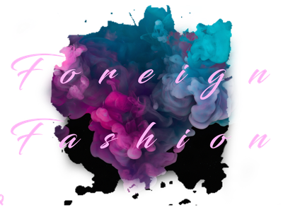 Foreign Fashion with BG creative logo typography photoshop vector logo branding illustration design