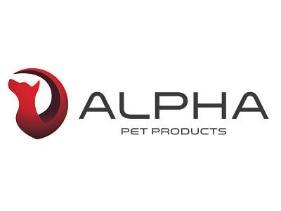 Alpha Logo pets creative design vector logo branding illustration design