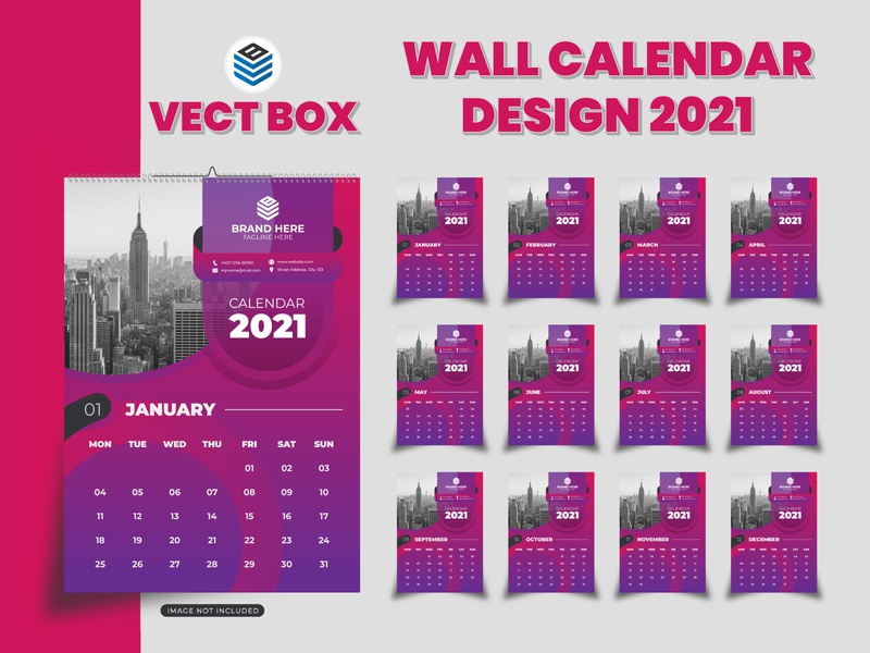 Wall calendar design 2021 desk calendar 2021 wall calendar branding design flyer design logos modern calendar design calendar 2021 calendar design calendar app calendar ui ux graphic design flat vector typography branding ui logo design illustration