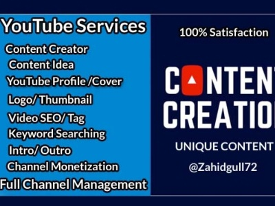 YouTube content creator and video editing youtube youtube intro youtube channel youtube thumbnail youtube banner youtube logo channel manager content management content marketing content creator content creation youtube content creator