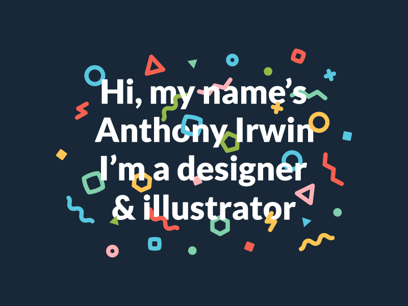 Portfolio Site Greeting portfolio site confetti greetings