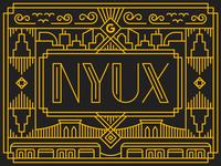 NYUX Art Deco Logo