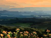 Pixel Blacksburg Mountains