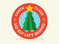 No Elf Left Behind Logo
