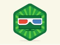 3D TV Badge