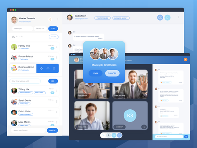 Video Conferencing video chat video call chat app web apps ui  ux ui design uidesign web app