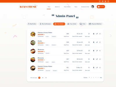 Kuk Fresh uxdesign uiux sleekdesign minimalist fresh design restaurant app food app delivery app web app design web design cooking