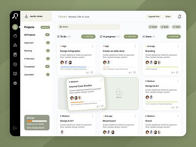 Task Tracker card design dashboad webdesign uiux