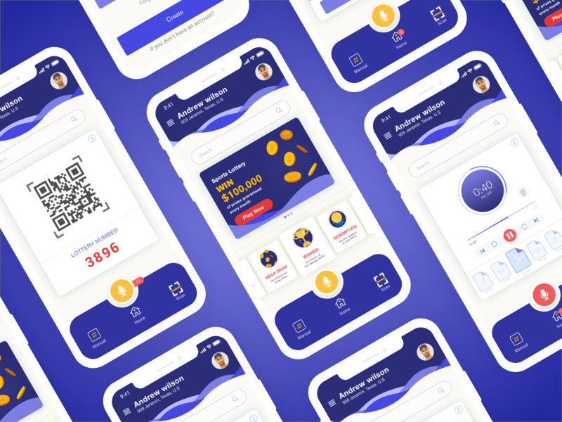 Lottery App by Saquib Shah on Dribbble