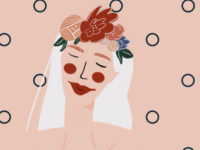 Floral woman flower floral florals floral design illustration
