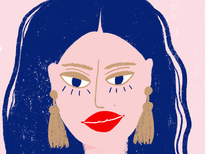 Woman with earrings procreate art procreate woman illustration