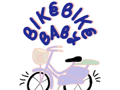 Bike bike baby bike design procreate art procreate illustration