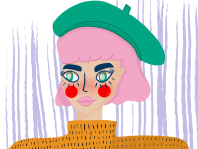 Woman with a beret character design characterdesign character woman design procreate art procreate illustration