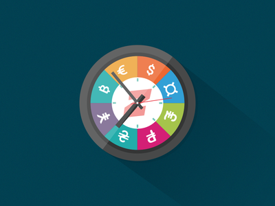 Time is money icon web illustration