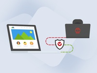 Illustration for website-protection service