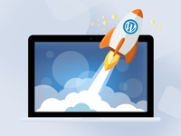 Illustration for WordPress Hosting service