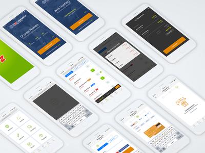Crazy Mobile Application illustration ux design ui design