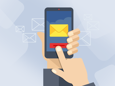 Illustration for Email Hosting service illustratuin