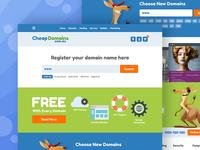 UI/UX Design of website for Cheapdomains.com.au