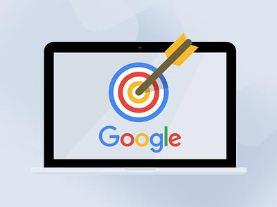 Illustration for Google AdWords Service illustratuin