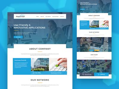 UI/UX Design for website of Dreamscape Networks Company web design ux design ui design
