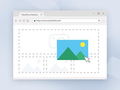 Illustration for WordPress website creation process illustratuin