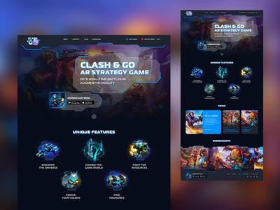 Clash & GO website, UI/UX Design ui ux design web ux design ui design web design