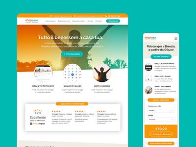 ShapeMe Website design web branding interface