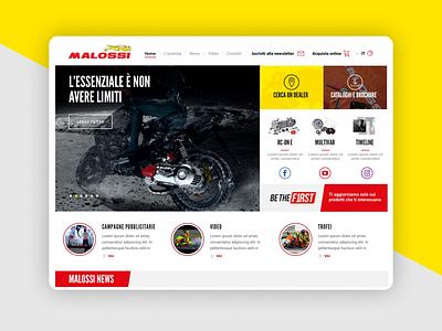 Malossi.com design identity website branding ux ui web