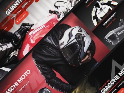 Banner work for motorcycle accessories website motorcycle homepage web design ui design ui interface design banner
