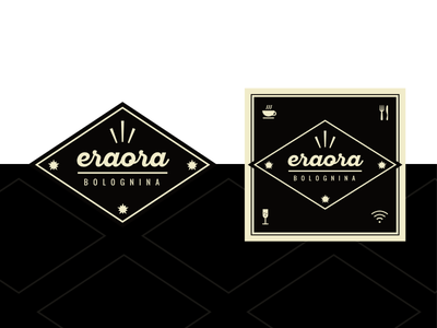 New identity for Coffee Shop in Italy - Finished result dark shop logo identity food cafe coffee branding