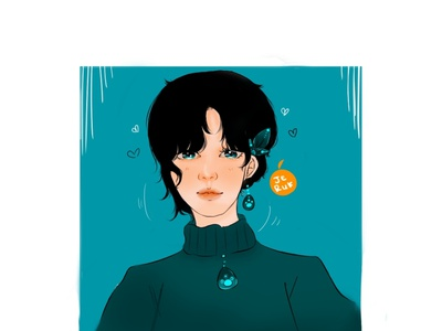 original semi-realist character vector design illustration