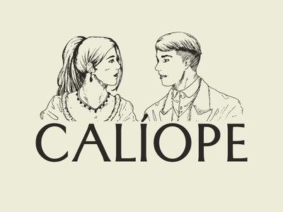 Calíope logo design illustration