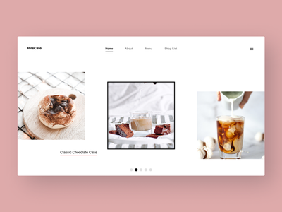 Coffee Cafe webdesign concept inspiration design web website uxui ui ux webdesign landingpage