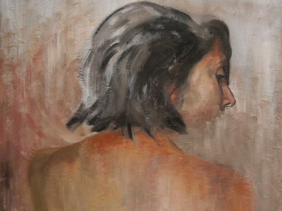 Portrait of María Paula design paint art illustration