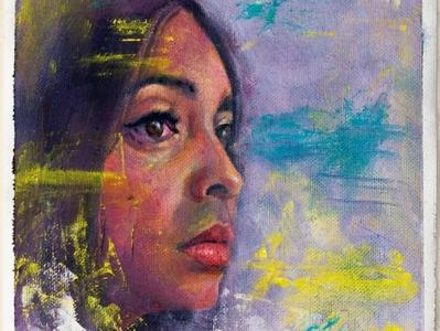 Portrait of ximena paint art illustration design