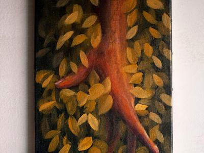 Yellow paint art illustration design