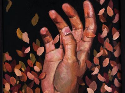 Autumn hand paint art illustration design