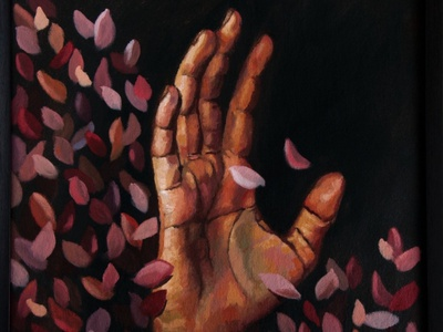 Autumn hands paint art illustration design