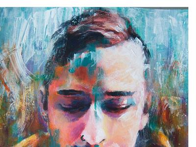 Portrait of daniel paint art illustration design
