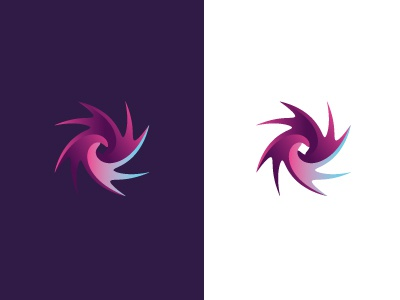 The Swirl wave swirl branding logo