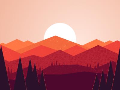 Firewatch Tribute landscape sunset firewatch